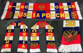 Шарф вязанный ES-0122 с логотипом «Вперед Россия». В ассортименте