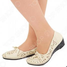 Туфли EGO «Романтика». Цвет: бежевый