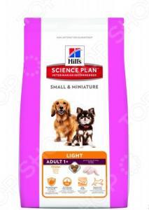 Корм сухой для собак миниатюрных пород Hill's Science Plan Light с курицей и индейкой