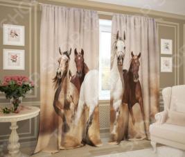 Фотошторы ТамиТекс «Лошади»