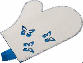 Рукавица для бани и сауны Банные штучки «Бабочки» 41135