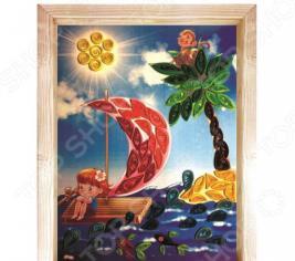 Набор для создания квиллинг-панно Азбука тойс «Кораблик»