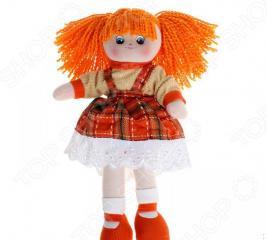 Мягкая кукла Gulliver Апельсинка в клетчатом платье
