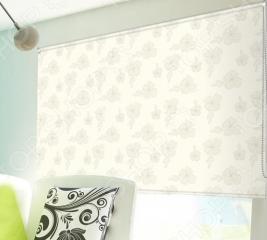 Рулонная штора Эскар «Эдельвейс». Цвет: лимонный