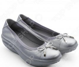 Балетки элегантные Walkmaxx Comfort 3.0. Цвет: серебряный