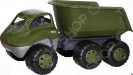 Самосвал игрушечный Cavallino военный с прицепом «Дакар»