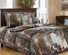 Комплект постельного белья Белиссимо «Город». 1,5-спальный