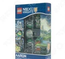 Часы наручные детские LEGO с минифигурой Aaron на ремешке