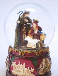 Снежный шар музыкальный Crystal Deco «Рождество» 1707562