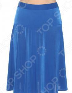 Юбка «Энергичная» полусолнце. Цвет: васильковый