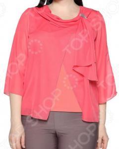 Блуза Лауме-Лайн «Нежные объятия». Цвет: коралловый