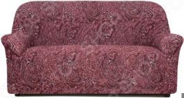 Натяжной чехол на трехместный диван Еврочехол «Виста. Руж»