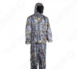 Костюм для охоты и рыбалки зимний Huntsman «Памир». Рисунок: серый лес