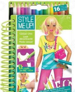 Блокнот с карандашами Style me up! «Повседневная элегнатность»