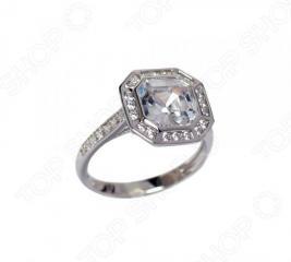 Серебряное кольцо с фианитом Andreana «Арт-Деко»