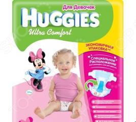 Подгузники HUGGIES Ultra Comfort Giga Pack для девочек 8-14 кг. 80 шт. Размер 4