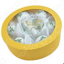 Чайный набор с ложками Elan Gallery «Белый шиповник» 730482