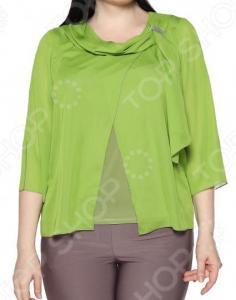 Блуза Лауме-Лайн «Нежные объятия». Цвет: оливковый