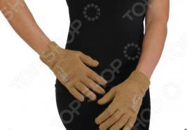 Перчатки женские из верблюжьей шерсти со стразами «Камель»