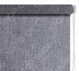 Рулонная штора Эскар «Меланж». Цвет: серый
