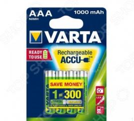 Батарея аккумуляторная VARTA AAA R2U 1000 мАч 4 шт.