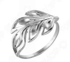 Кольцо «Изящество природы» 2302701-5. Цвет: серебро