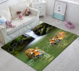 Ковер ТамиТекс «Тигры в воде»