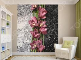 Фотообои ТамиТекс «Орхидея на стекле». Количество полотен: 2 шт