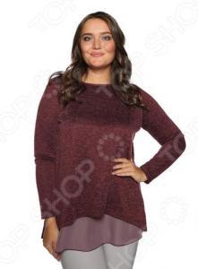 Блуза Prima Linea «Женская нежность». Цвет: бордовый