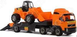 Машина игрушечная с аксессуарами POLESIE Volvo «Трактор-погрузчик»