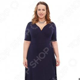 Платье-кардиган Laura Amatti «Легкое мгновение». Цвет: синий