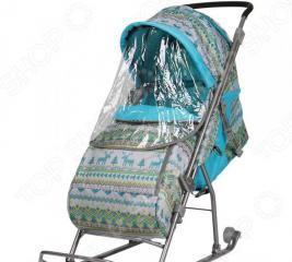 Санки-коляска Ника «Вязаный узор»