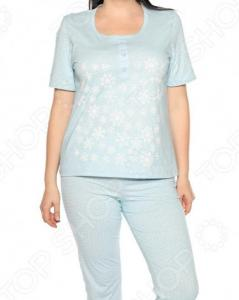 Пижама Алтекс «Счастливые дни». Цвет: голубой