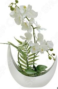 Декоративные цветы Dream Garden «Орхидея белая» в керамической вазе