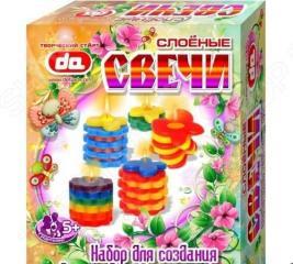 Набор для создания свечей ДЕТИ АРТ «Слоёные свечи Бабочки-цветочки»
