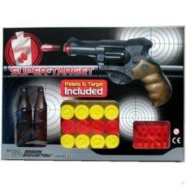 Пистолет с мишенями и пульками Edison Giocattoli Champions-Line Supertarget