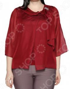 Блуза Лауме-Лайн «Нежные объятия». Цвет: бордовый