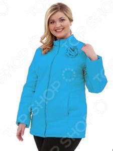 Куртка Гранд Гром «Тонкий вкус с воротником». Цвет: голубой