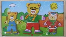 Пазл деревянный с набором одежды ADEX «3 медведя №2»
