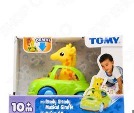 Каталка Tomy «Веселый жираф-водитель»