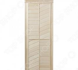 Дверь для бани глухая горизонтально-диагональная Банные штучки 32215