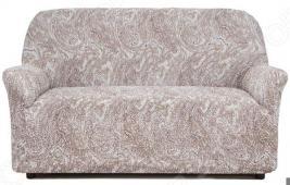 Натяжной чехол на двухместный диван Еврочехол «Виста. Буше»