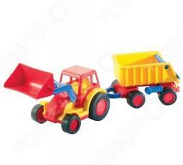 Трактор-погрузчик Wader «Базик» с прицепом