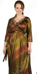 Платье СВМ-ПРИНТ «Новогодняя ночь». Цвет: золотистый