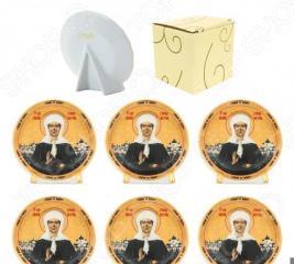 Набор круглых декоративных тарелок Elan Gallery «Матрона Московская»