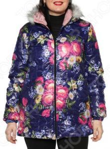 Куртка ТРЕНД «Аллея цветов». Цвет: фиолетовый