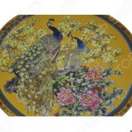 Тарелка декоративная Elan Gallery «Павлин на золотом»