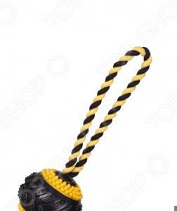 Игрушка для собак DEZZIE «Протекторный мяч на веревке»
