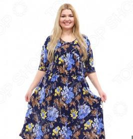 Платье Лауме-стиль «Цветочное счастье». Цвет: синий