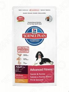 Корм сухой для собак средних пород Hill's Science Plan Advanced Fitness Medium с курицей